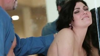 FamilyStrokes – Naughty young stepdaughter fucks step-dad while mom cooks