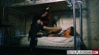 Blown Away: Sexy roughs up lesbian cell mate